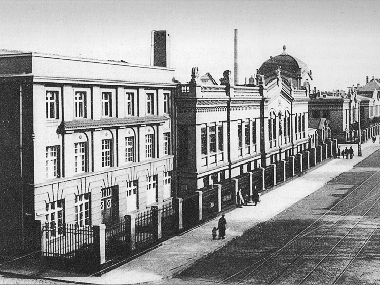 Das Bild zeigt eine Aufnahme der Fahlberg-List-Werke aus der Zeit um 1900